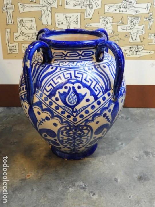 Antigüedades: VASIJA ORZA JARRON DE CERAMICA DE TALAVERA FIRMADA ESPA - Foto 4 - 168857960