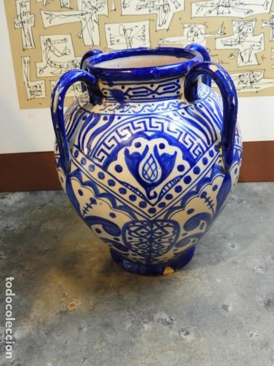 Antigüedades: VASIJA ORZA JARRON DE CERAMICA DE TALAVERA FIRMADA ESPA - Foto 8 - 168857960