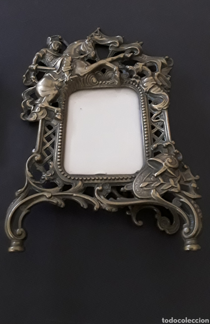 Antigüedades: Marco sobremesa, bronce - Foto 13 - 168843920