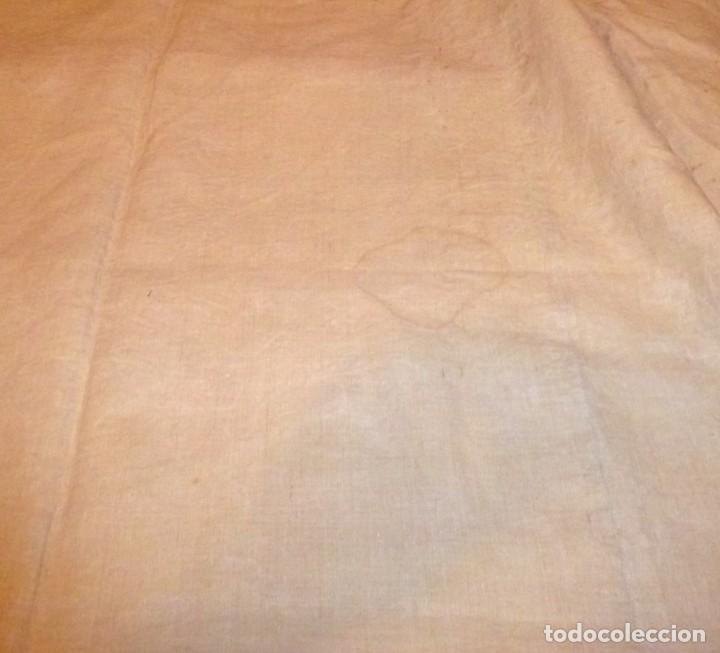 Antigüedades: Antigua colcha cubre camas de lino. - Foto 5 - 168869048