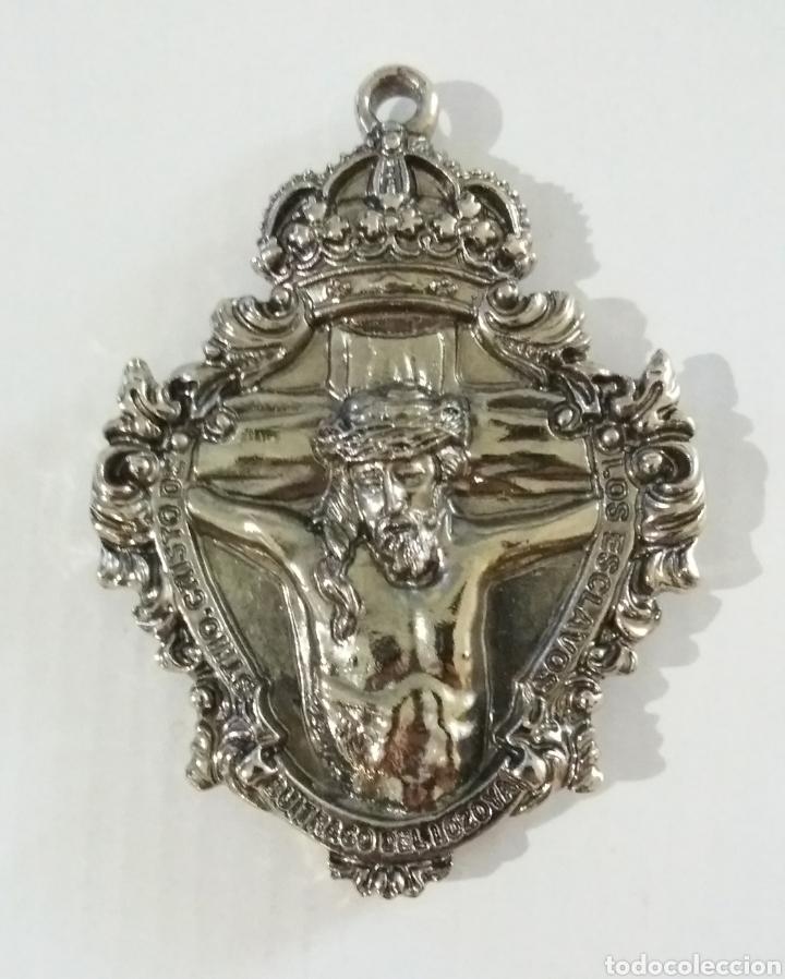 MEDALLA MEDALLON STMO CRISTO DE LOS ESCLAVOS Y NTRA SRA DE LAS ANGUSTIAS, BUITRAGO DEL LOZOYA MADRID (Antigüedades - Religiosas - Medallas Antiguas)