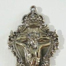 Antigüedades: MEDALLA MEDALLON STMO CRISTO DE LOS ESCLAVOS Y NTRA SRA DE LAS ANGUSTIAS, BUITRAGO DEL LOZOYA MADRID. Lote 168882457