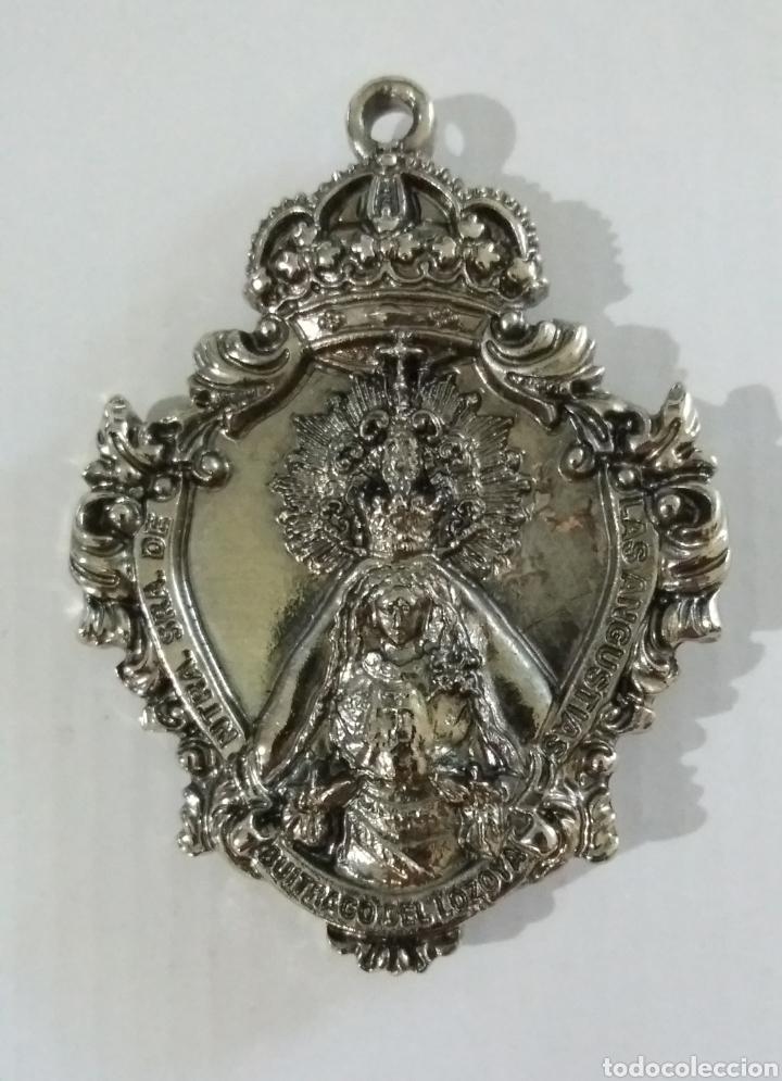 Antigüedades: MEDALLA MEDALLON STMO CRISTO DE LOS ESCLAVOS Y NTRA SRA DE LAS ANGUSTIAS, BUITRAGO DEL LOZOYA MADRID - Foto 2 - 168882457