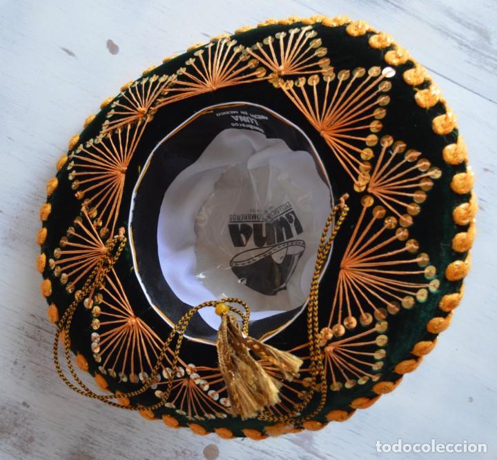 Antigüedades: AUTÉNTICO SOMBRERO MEXICANO PARA NIÑO HECHO A MANO, ADQUIRIDO EN MÉXICO EN 1994, MARCA LUNA. - Foto 2 - 168889968