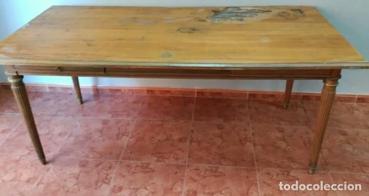 Antigüedades: ESCRITORIO DE MADERA grande y antiguo - Foto 2 - 168892686