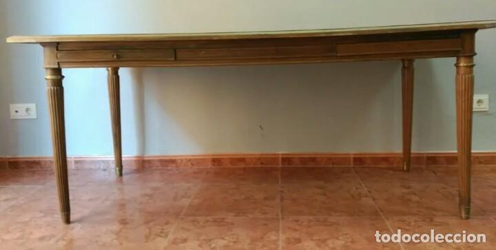 ESCRITORIO DE MADERA GRANDE Y ANTIGUO (Antigüedades - Muebles Antiguos - Mesas de Despacho Antiguos)