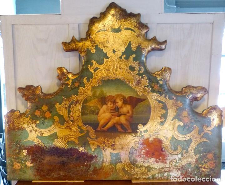 CABECERO DE CAMA DE MESIADOS DEL SIGLO XIX (Antigüedades - Muebles Antiguos - Camas Antiguas)
