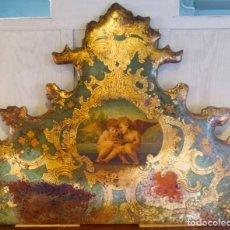 Antigüedades: CABECERO DE CAMA DE MESIADOS DEL SIGLO XIX. Lote 168926016