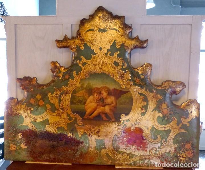 Antigüedades: Cabecero de cama de mesiados del Siglo XIX - Foto 2 - 168926016
