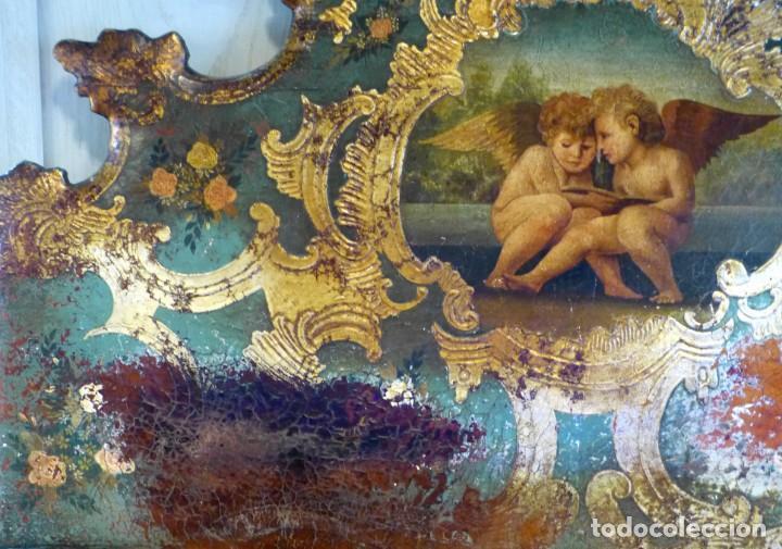 Antigüedades: Cabecero de cama de mesiados del Siglo XIX - Foto 3 - 168926016