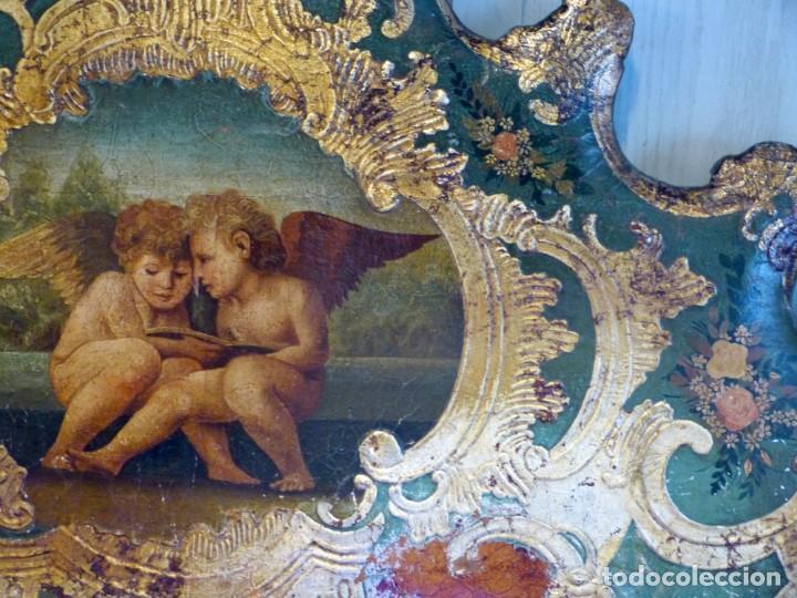 Antigüedades: Cabecero de cama de mesiados del Siglo XIX - Foto 5 - 168926016