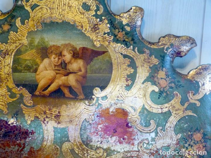 Antigüedades: Cabecero de cama de mesiados del Siglo XIX - Foto 6 - 168926016
