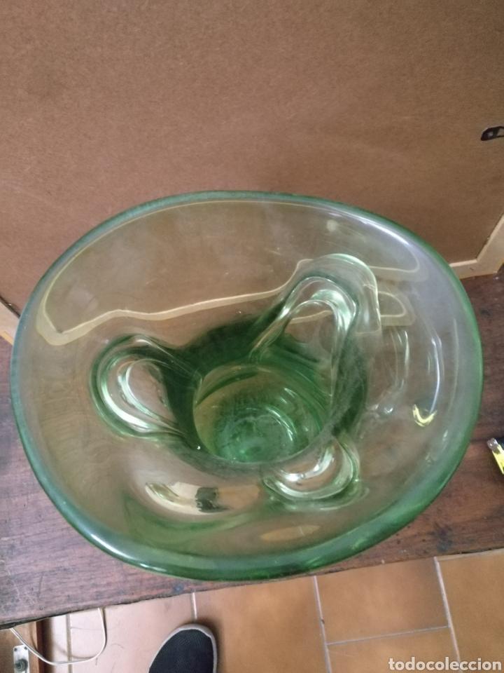 Antigüedades: Jarron grande cristal murano color verde dos tonos - Foto 4 - 168929166