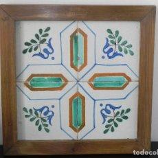 Antigüedades: ** CUADRO DE AZULEJOS CATALANES SIGLO XVIII **. Lote 168934936