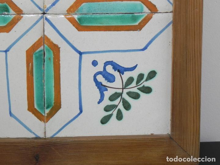 Antigüedades: ** CUADRO DE AZULEJOS CATALANES SIGLO XVIII ** - Foto 4 - 168934936