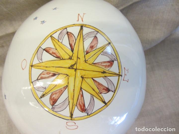 Antigüedades: Jarro florero de cerámica oval ppo. s.XX Faitanar - Foto 3 - 168945416