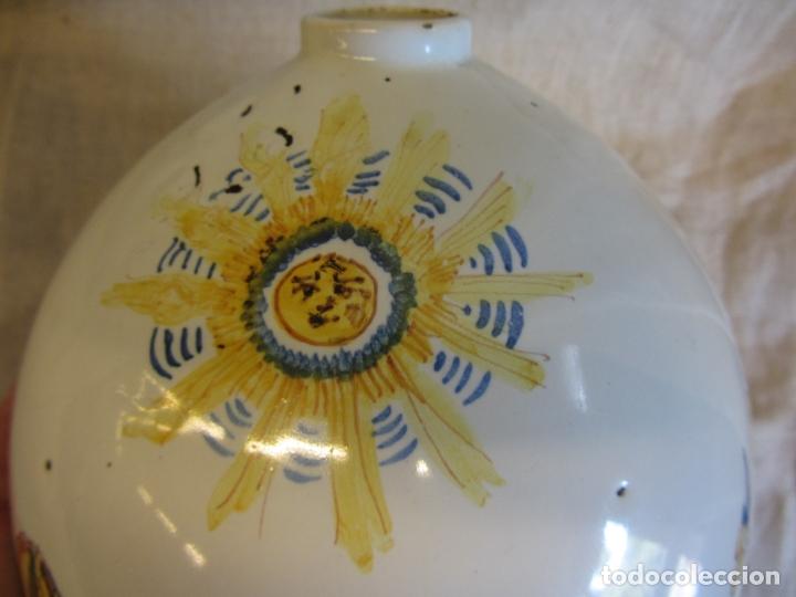 Antigüedades: Jarro florero de cerámica oval ppo. s.XX Faitanar - Foto 4 - 168945416