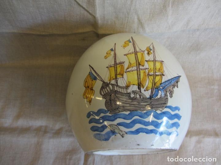Antigüedades: Jarro florero de cerámica oval ppo. s.XX Faitanar - Foto 6 - 168945416
