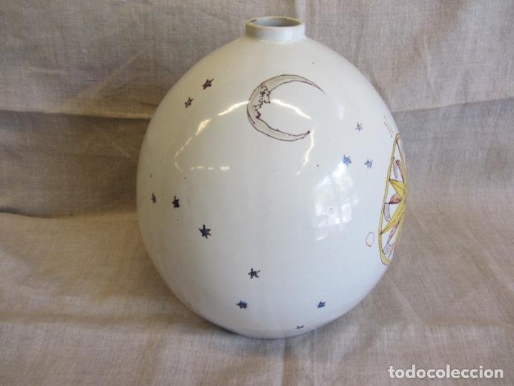 Antigüedades: Jarro florero de cerámica oval ppo. s.XX Faitanar - Foto 9 - 168945416