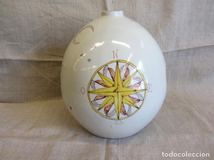 Antigüedades: Jarro florero de cerámica oval ppo. s.XX Faitanar - Foto 10 - 168945416