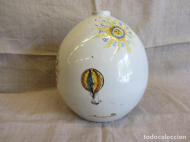 Antigüedades: Jarro florero de cerámica oval ppo. s.XX Faitanar - Foto 11 - 168945416