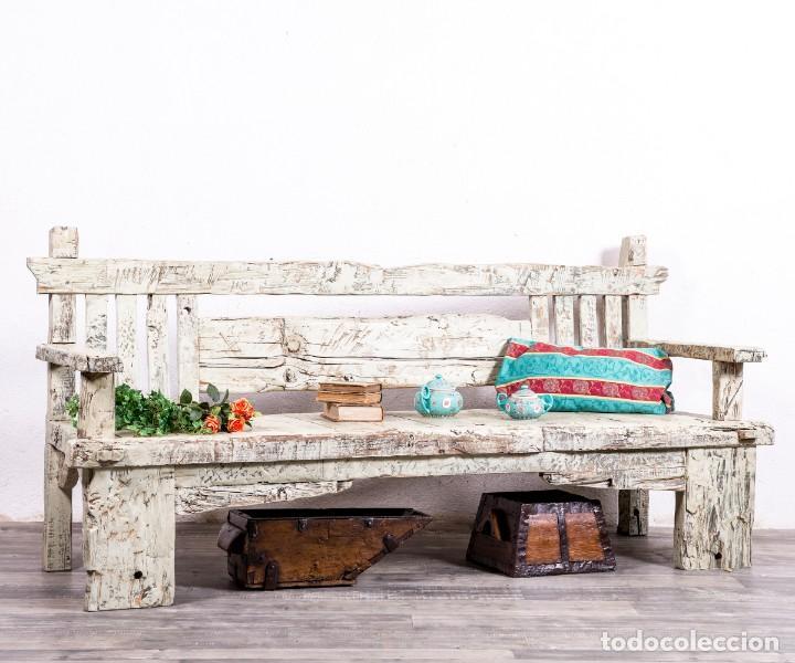 BANCO ANTIGUO DE MADERA (Antigüedades - Muebles Antiguos - Sofás Antiguos)
