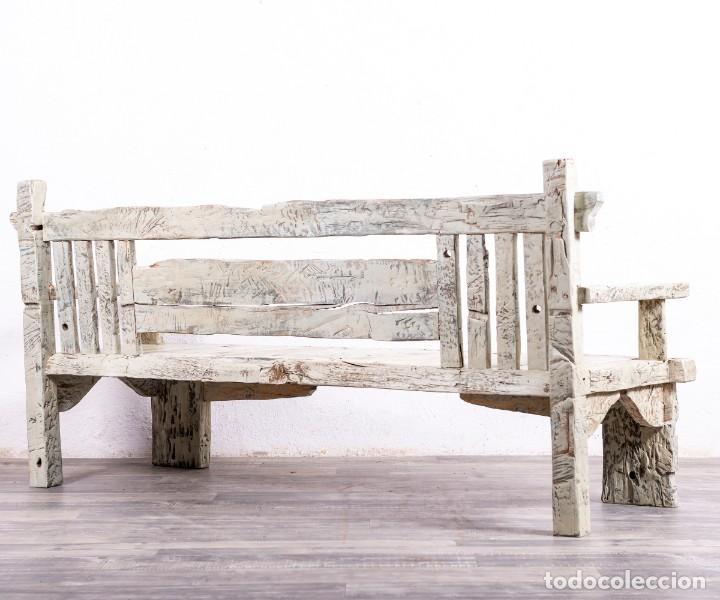 Antigüedades: Banco Antiguo De Madera - Foto 7 - 168947920