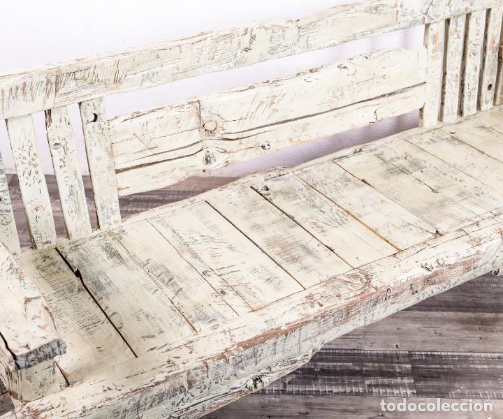 Antigüedades: Banco Antiguo De Madera - Foto 8 - 168947920