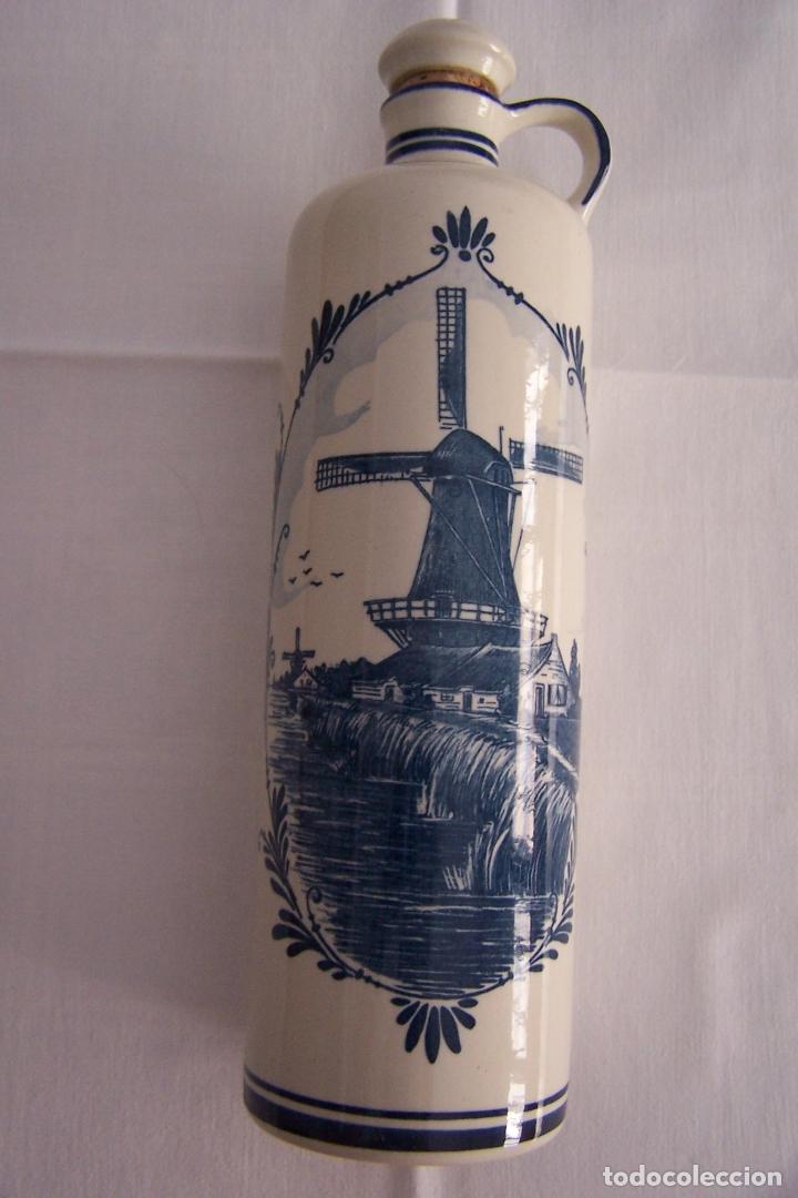 BOTELLA DE PORCELANA DELFT, CANECO, HOLANDA. (Antigüedades - Porcelana y Cerámica - Holandesa - Delft)