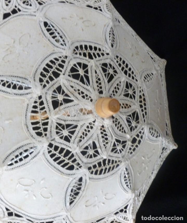 Antigüedades: SOMBRILLA DE ENCAJE PARA MUÑECA - Foto 7 - 168950008