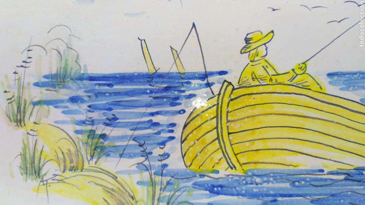 Antigüedades: Azulejo pescadores 50 x 19 cm. - Foto 3 - 168957368