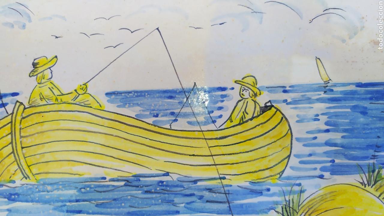 Antigüedades: Azulejo pescadores 50 x 19 cm. - Foto 4 - 168957368
