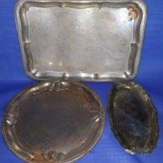 Antigüedades: LOTE BANDEJAS METÁLICAS VINTAGE. Lote 168994366