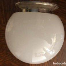 Antigüedades: TULIPA LAMPARA GLOBO CRISTAL. Lote 168995144