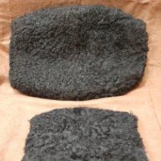 Antigüedades: DOS MANGUITOS DE ASTRACÁN. PPS S. XX. MIDEN 32 Y 18 CM.. Lote 169004561