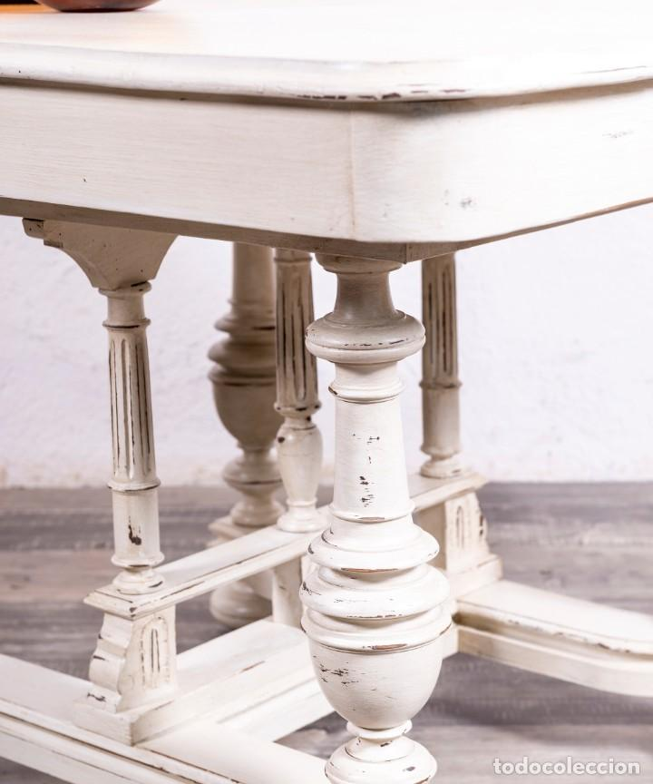 Antigüedades: Mesa Antigua Restaurada Cecile - Foto 4 - 169009136