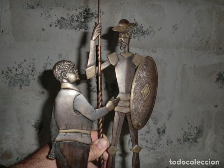 Antigüedades: FIGURA DE HIERRO O FORJA DE DON QUIJOTE Y SANCHO PANZA - Foto 2 - 169015064