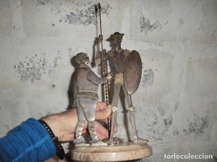 Antigüedades: FIGURA DE HIERRO O FORJA DE DON QUIJOTE Y SANCHO PANZA - Foto 3 - 169015064