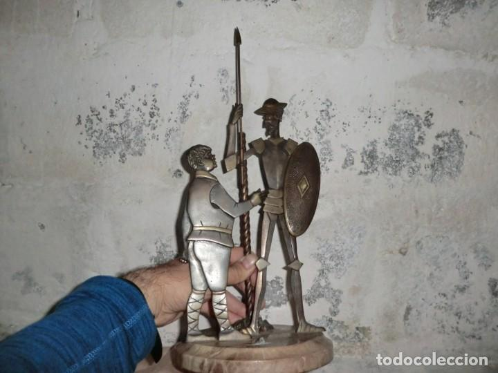 Antigüedades: FIGURA DE HIERRO O FORJA DE DON QUIJOTE Y SANCHO PANZA - Foto 4 - 169015064