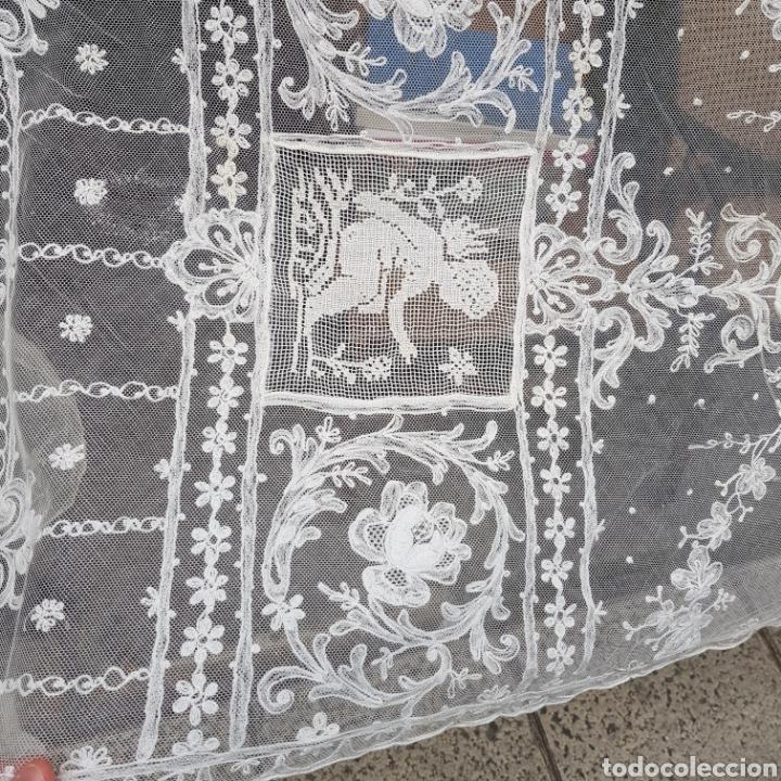 Antigüedades: ANTIGUO VELO MANTILLA EN ENCAJE DE BRUSELAS SIGLO XIX - Foto 5 - 169089153