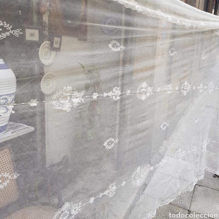 Antigüedades: ANTIGUO VELO MANTILLA EN ENCAJE DE BRUSELAS SIGLO XIX - Foto 6 - 169089153