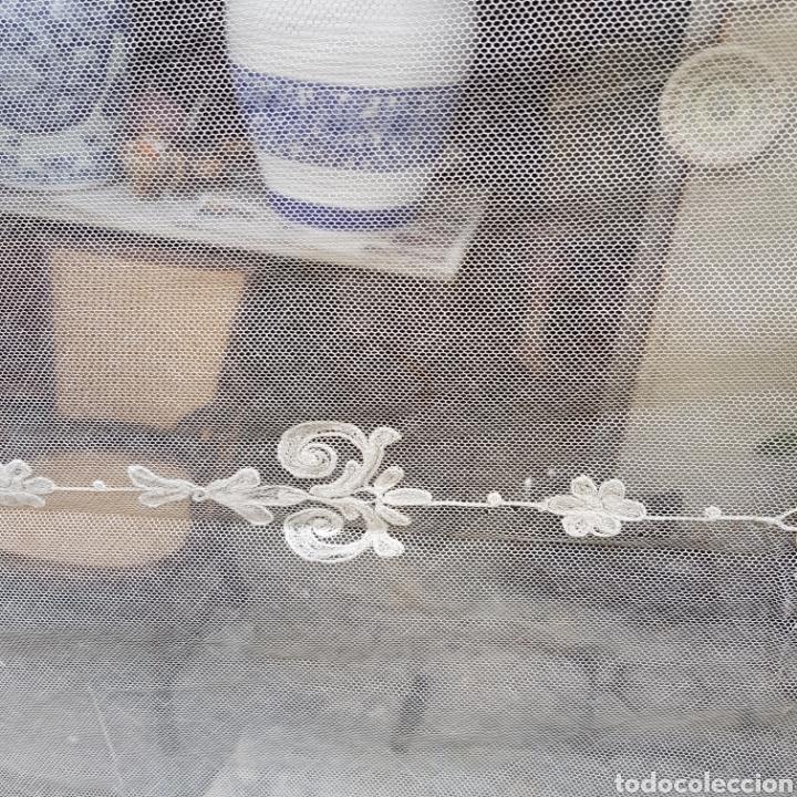 Antigüedades: ANTIGUO VELO MANTILLA EN ENCAJE DE BRUSELAS SIGLO XIX - Foto 11 - 169089153