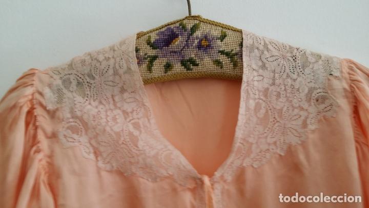 Antigüedades: Blusa / chaqueta / peinador, lencería años 20-30 – seda natural - Foto 2 - 169091396