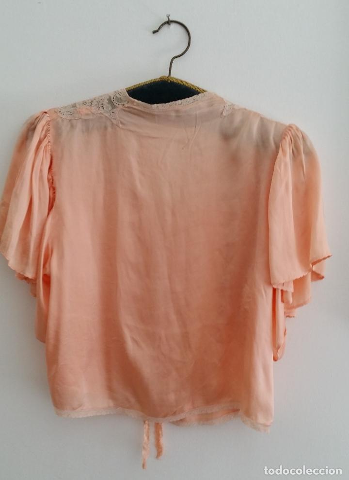Antigüedades: Blusa / chaqueta / peinador, lencería años 20-30 – seda natural - Foto 3 - 169091396