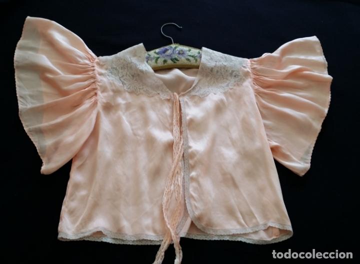 Antigüedades: Blusa / chaqueta / peinador, lencería años 20-30 – seda natural - Foto 4 - 169091396
