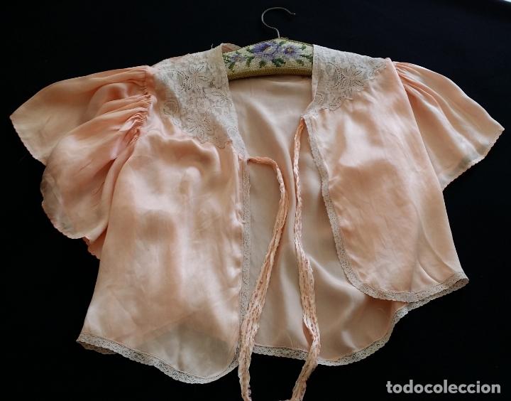 Antigüedades: Blusa / chaqueta / peinador, lencería años 20-30 – seda natural - Foto 5 - 169091396