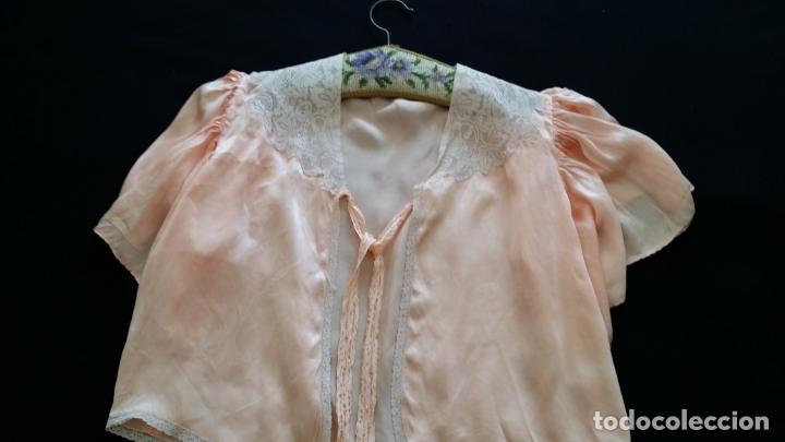 Antigüedades: Blusa / chaqueta / peinador, lencería años 20-30 – seda natural - Foto 6 - 169091396