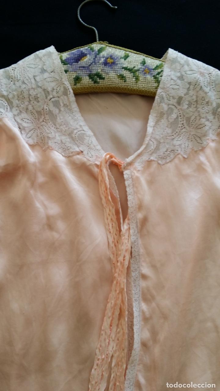 Antigüedades: Blusa / chaqueta / peinador, lencería años 20-30 – seda natural - Foto 7 - 169091396