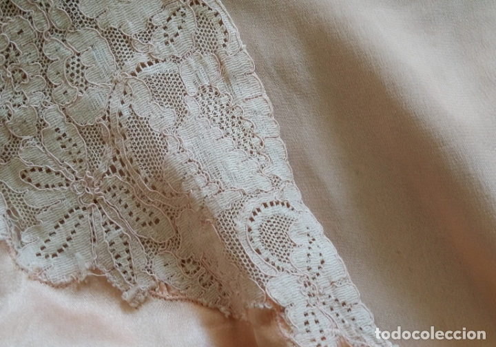 Antigüedades: Blusa / chaqueta / peinador, lencería años 20-30 – seda natural - Foto 8 - 169091396