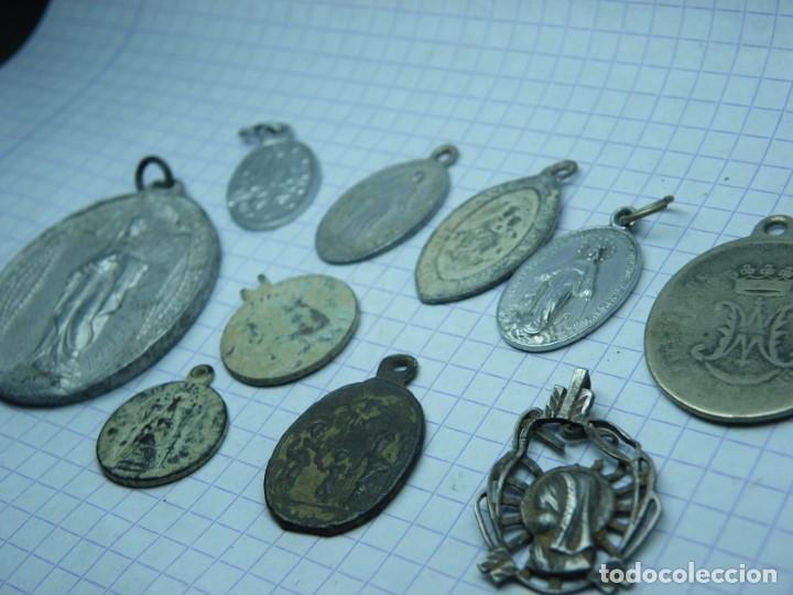 LOTE DE MEDALLAS, Nº 2. (ELCOFREDELABUELO) (Antigüedades - Religiosas - Medallas Antiguas)